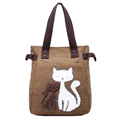Modische Segeltuch-Schulter-Handbeutel-Handtaschen-Einkaufstasche-Taschentasche, C