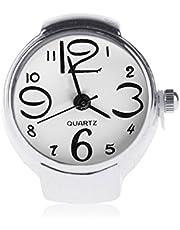 Bobury Anillo con Reloj Mujer Moda Ajustable De Cuarzo De Anillo De Dedo Joyería Señora Girl Regalo