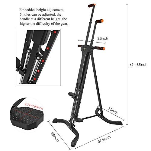 RELIFE REBUILD YOUR LIFE Vertical Climber for Home Gym Folding Exercise Cardio Workout Machine Stair Stepper Newer Version by RELIFE REBUILD YOUR LIFE (Image #6)