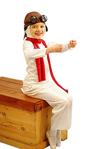 Biggles Costume (World Book Day-Character-White Dog BIGGLES SNOOPS Child's Fancy Dress Costume - All Ages (TEEN))