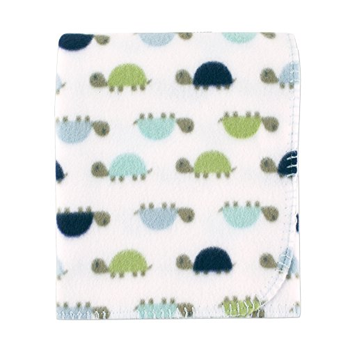 Baby Fleece Blanket - Luvable Friends Printed Fleece Blanket, Turtles
