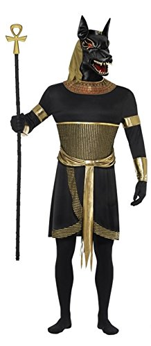 L Mens Anubis Jackal Egyptian God Animal Mythical Creature Myth Fancy Dress Costume Outfit M & L (Large)