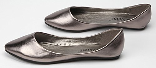 Scarpe Basse Sfilate Da Donna Sfilate Alla Moda Scivolate Sulle Scarpe Grigie