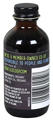 Frontier Co-op Lemon Flavor Organic, Non-Alcoholic, 2 ounce bottle 2 2 Fluid Ounce Bottle Fresh, organic lemon flavor for adding pucker to cookies, cakes, sauces and beverages Certified Organic, Kosher