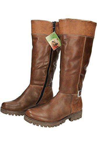 Rieker - Sandalias con cuña mujer marrón