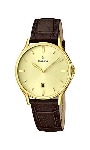 FESTINA watch men's leather band F16747 / 2 Men's [regular imported goods]