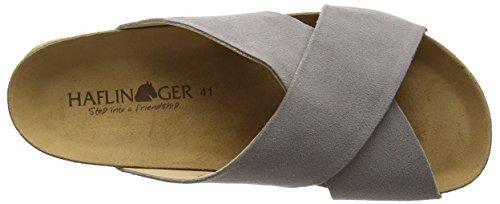 Haflinger HaflingerBio Mio - sandalias abiertas Unisex adulto Negro - Schwarz (Graphit 705)