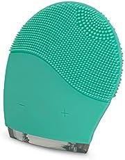 CREATE IKOHS Elektrische gezichtsreinigingsborstel FACE WAVE - Gezichtsborstel van silicone, verjongt de huid, massageapparaat, voor alle huidtypes, peeling, trillingen, oplaadbaar (turquoise)