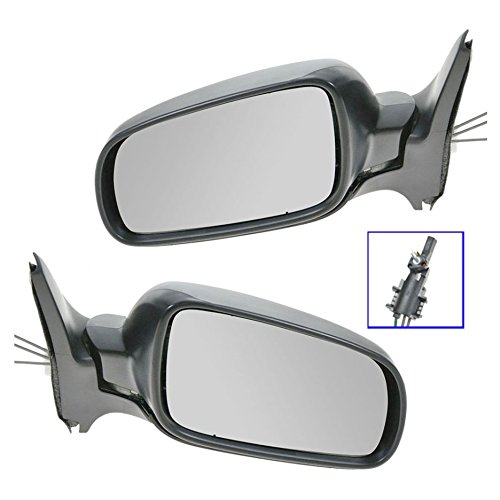 Manual Remote Side View Mirrors Set of 2 Pair Left LH & Right RH for VW
