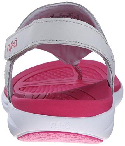 Ryka Womens Scamper Sandalo Atletico Grigio / Rosa / Argento