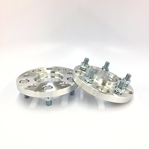 Customadeonly 2pc Hub Centric Wheel Spacers Adapters | 5x108 | 63.4 CB | 15mm Fits Jaguar Ford by Customadeonly