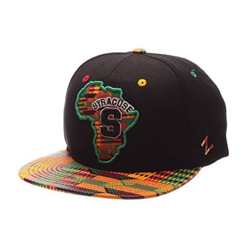 (Zephyr Syracuse Orangemen Congo African Style Snapback Cap - NCAA Orange Flat Bill, One Size Adjustable Baseball Hat)