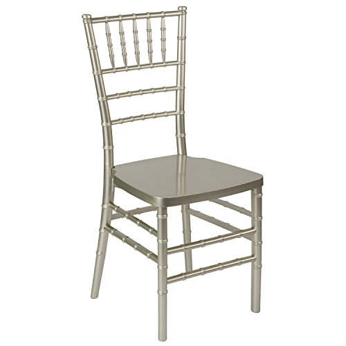 (Flash Furniture LE-CHAMP-GG Champagne Resin Chiavari Chairs, 1 Pack,)