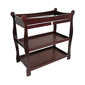 Badger Basket Sleigh Style Baby Changing Table, Cherry