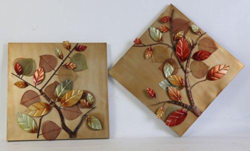 TWG Twin Fall Leaves Fall Leaves Metal Wall Art - Cute fall metal wall art decor