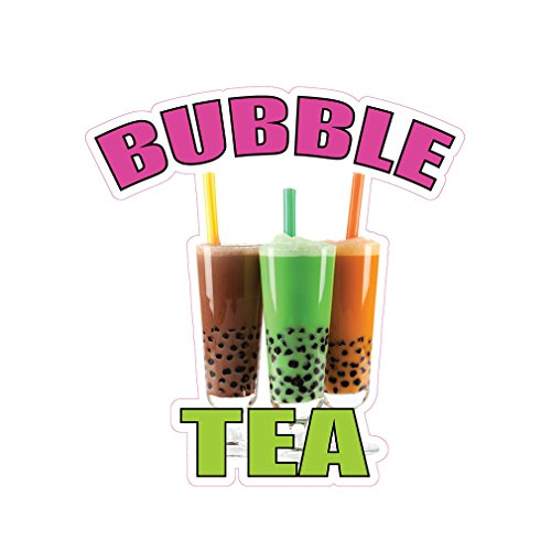 Bubble Tea Poster - Bubble Tea Concession Restaurant Food Truck Die-Cut Vinyl Sticker 18 inches