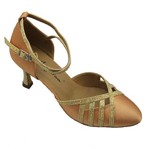 Jig Zapatos Foo baile de mujer Gold para Pumps qC8Iw7