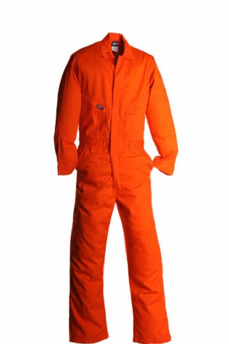 - LAPCO CVFRD7OR-2XL RG Lightweight 100-Percent Cotton Flame Resistant Deluxe Coverall, Orange, 2X-Large, Regular