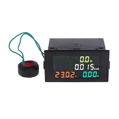 Cutebility AC 80-300V Voltmeter Ammeter Power Energy Meter Volt Amp Power Kwh Meter 100A CT Ammeter Voltmeter Multimeter:
