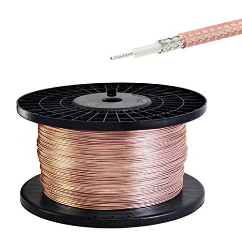 Coax Cable Single Conductor - XI_XI RG316 Single Copper Braid Shielded RF Coaxial Cable 50 Feet
