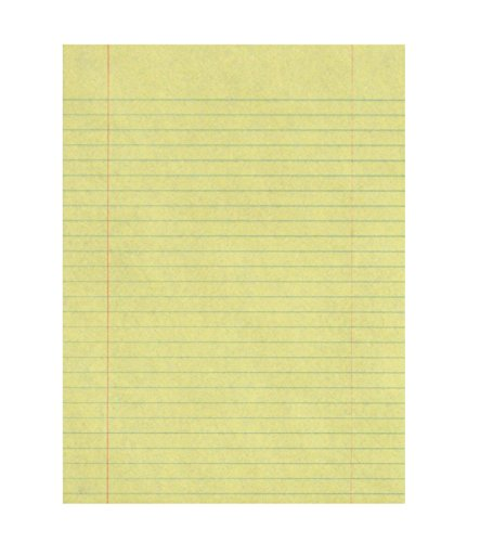 School Smart Composition Paper, Red Margin, 8-1/2 x 11 Inches, Yellow, 500 Sheets
