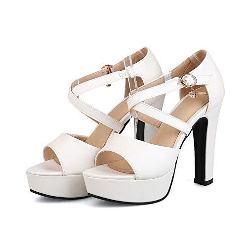 Women Sandals Sweet Pink Peep Toe Summer Shoes Sexy High Heel Platform Shoes Woman,White,4