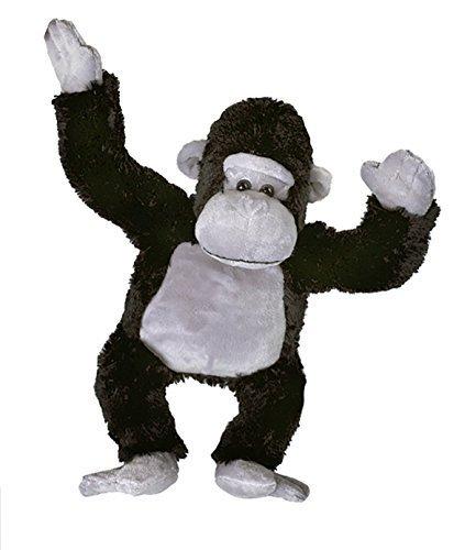 Cuddly Soft 16 inch Stuffed Black & Grey Gorilla- We stuff 'em...you love 'em! from Stuffems Toy Shop