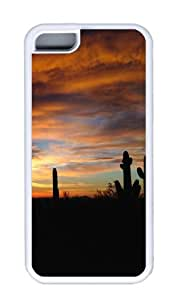 Customized Case landscapes nature desert 45 White for Apple iPhone 5C