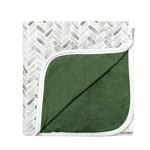 (Large Premium Knit Baby 3 Layer Stretchy Quilt Blanket