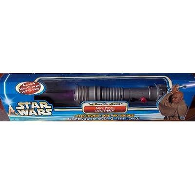 Star wars The Phantom Menace MACE WINDU LightSaber: Toys & Games