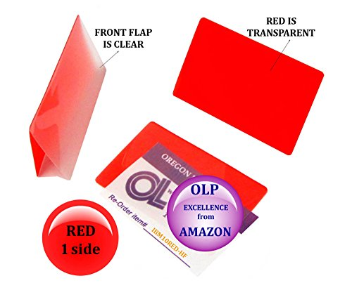 Oregon Lamination Hot Laminating Pouches IBM Card (pack of 50) 10 mil 2-5/16 x 3-1/4 Red/Clear by Oregon Lamination Premium