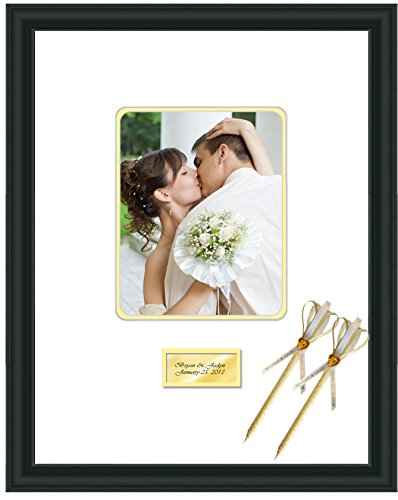 Amazon.com - Engraved Wedding Signature Frame 16x20 Photo Matted ...