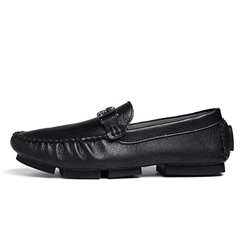 Uomo in Scarpe e Soffici Auto Shopping per per Nero Cricket Mocassini da Comodi Barca Mocassini Easy da Metallo Bottoni Casual Go YZPqTT