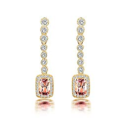 Diamond Drop Tourmaline Earrings