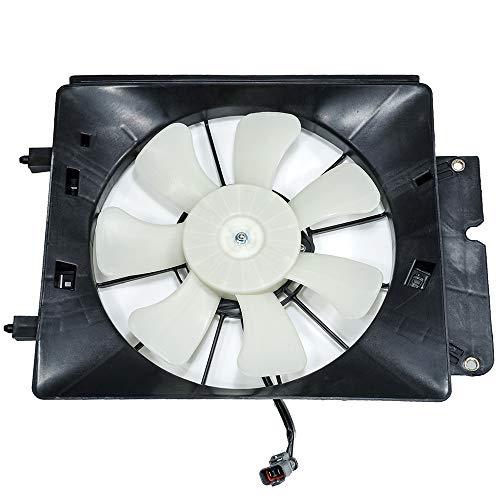 Hex Autoparts A/C AC Air Conditioning Condenser Cooling Fan Motor & Shroud for 2002-2006 Honda CRV CR-V / 2003-2006 Honda Element ()