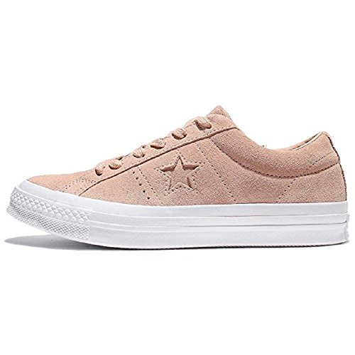Converse Unisex One Star Ox Suede Low Top, Dusk Pink/White (Men's 7.5/Women's 9.5)