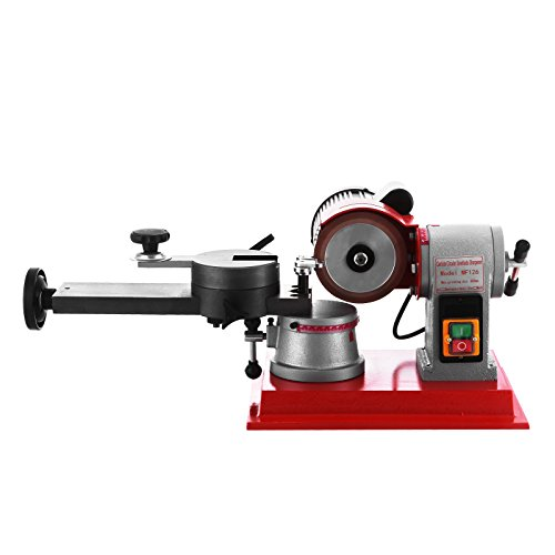 VEVOR Round Circular Saw Blade Grinder Machine 110V 370W Rotary Angle Mill Sharpener 125mm Electric Saw Blade Sharpener Machine for Sharpening Carbide Tipped Saw Blades (Saw Sharpening Tools)