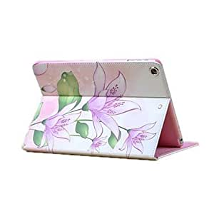 HP PU Leather With Flower Background and rhinestone Case for iPad Air