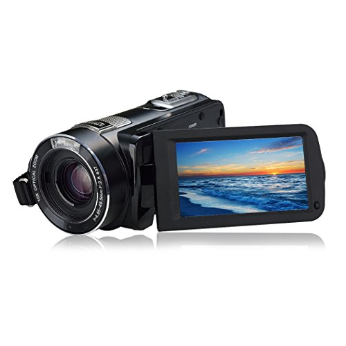 ORDRO Tragbar Digital Video Camcorder Full HD Max. 24.0MP 1080P Kamera DV mit 1200X Superzoom und Fernbedienung (HDV-Z80)