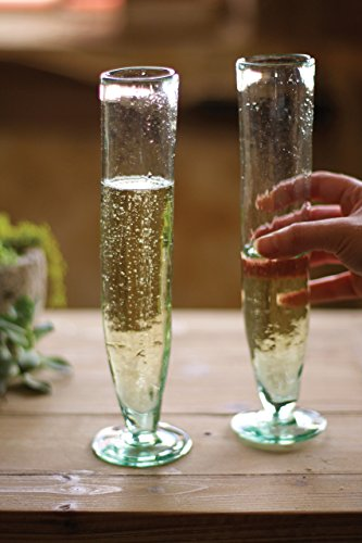 KALALOU CRL5749 TALL RECYCLED CHAMPAGNE FLUTE by Kalalou