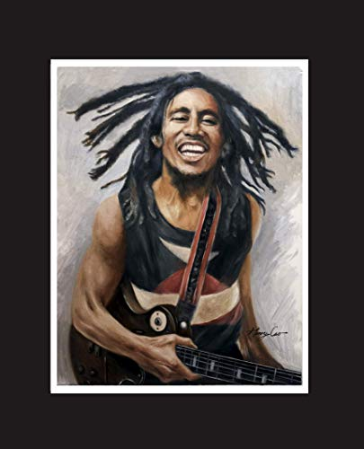Bob Marley, Jamaican singer-songwriter, international musical and cultural icon. Oil Painting Print 16 X 20