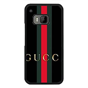 Luxury Style Gucci Logo Phone Case Black Hard Plastic Case Cover Snap On Htc One M9,Gucci Logo Htc One M9 Case(Black)