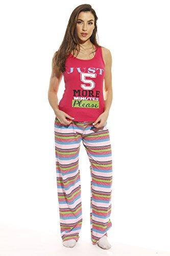 6330-10015-3X Just Love Pant Sets / Women Sleepwear / Womans Pajamas / Pjs,Chevron Multi Striped - White,3X Plus