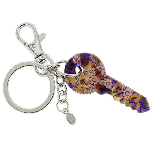 GlassOfVenice Murano Glass Key to Murano Keychain #3