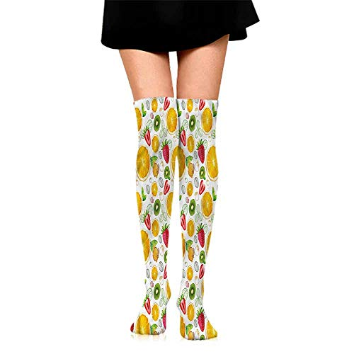 a Socks casual male Fruits,Fresh Citrus Kiwi Lemon,socks men pack dress