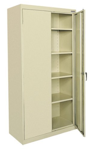 (Sandusky Lee - CA4136247807 Lee Classic CA41362478-07 Storage Cabinet - 36 x 24 x 78 - Steel - 4 x Shelf(VES) - Durable, Security Lock - Putty)