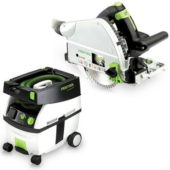 Plunge Saw Eq (Festool PD561432 TS 55 EQ Plunge Cut Circular Saw + CT MIDI 3.3 Gallon Mobile Dust Extractor with T-Loc Systainer)