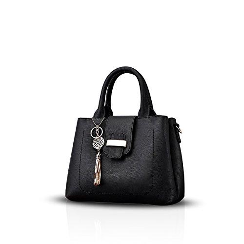 Shoulder Handbag Crossbody Fashion amp;DORIS Black Gray Simple Waterproof Leather PU Women Bag NICOLE n1aqBq