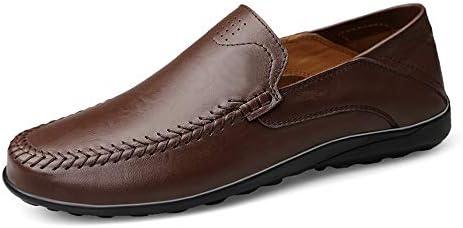 ファッションカジュアル男性ローファー高品質金属装飾アップリケリアル本革の靴男フラットシューズ柔らかい底は滑りやすいボートモカシンではない