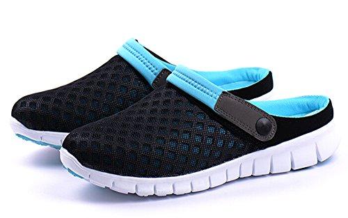 Fansela(TM) Unisex Men Women Breathable Mesh Net Slippers Autumn Sandals Loafers Slip Ons Flats Blue